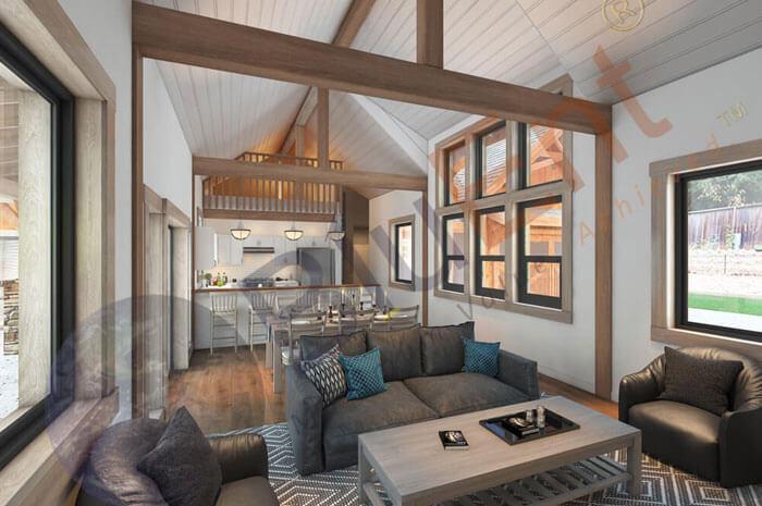 3D interior room rendering