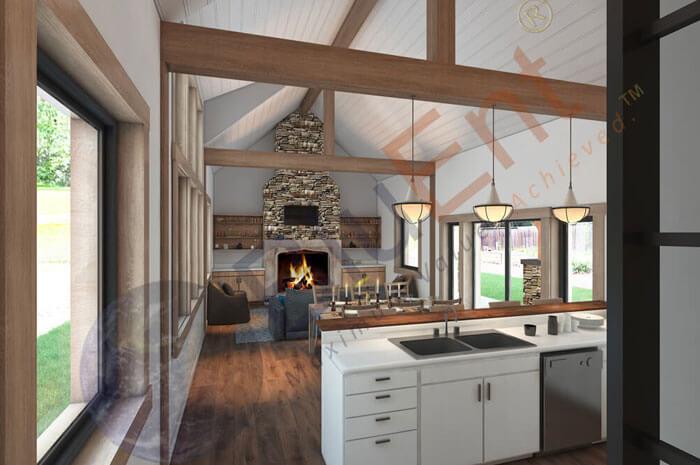 3D living room rendering