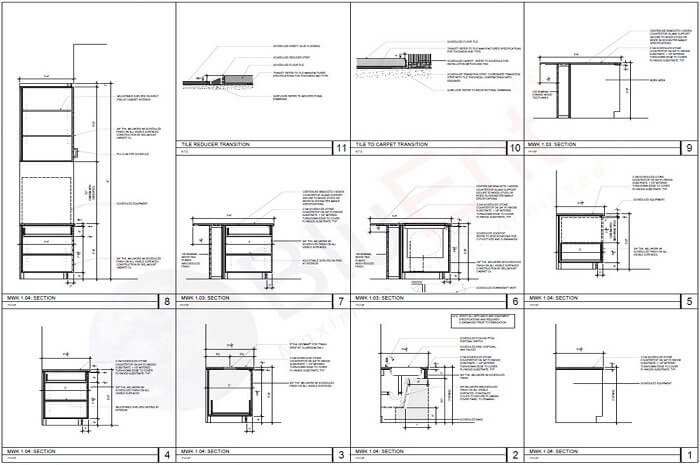 Plan for millwork