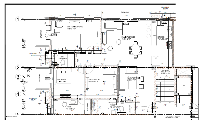 Construction documents in AutoCAD