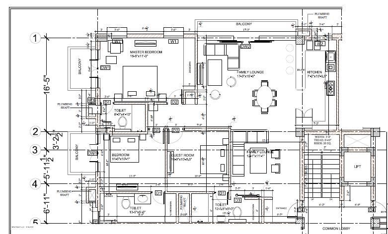 an original floor plan