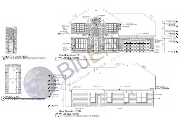 Architectural construction drawing by BluEntCAD