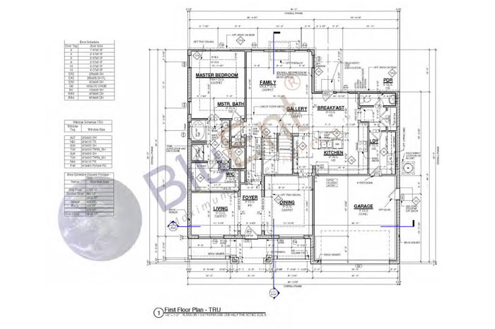 Architectural construction drawing