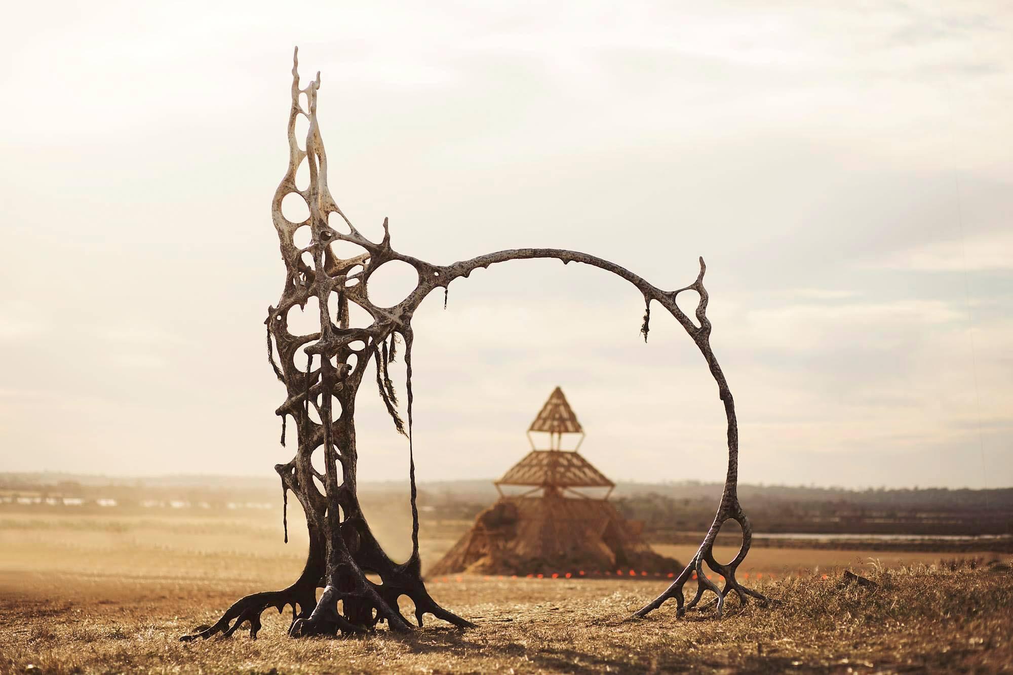 The Blazing Swan Temple, burning man festival