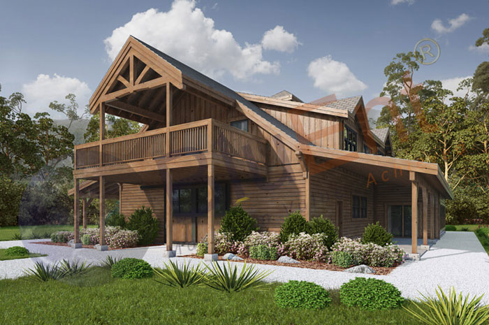 Exterior architectural rendering by BluEntCAD