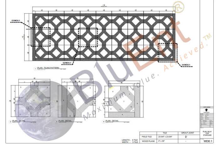 Flooring stone shop drawings