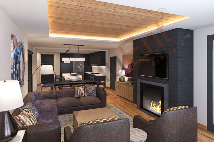 Interior rendering by BluEntCAD